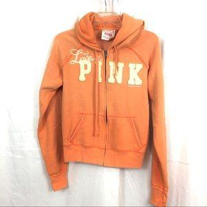 Vintage Victoria Secret Pink peach hoodie L